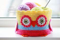 Crochet Pattern - Owl Basket