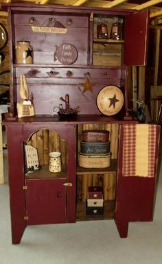 Love, Love this cabinet ~ Stars and Stitches Primitives