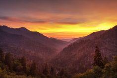A spectacular Smoky Mountain sunset!
