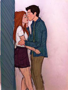 Teen Wolf Memes, Cute Couple Cartoon, Cartoon Pics, Couple Drawings, My Drawings, Couple Illustration, Illustration Art, Teen Wolf Fan Art, Teen Wolf Stydia