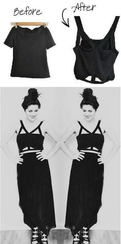 DIY Tee to Cut Out Bandeau Top Tutorial from Bleached  Faded here. Really easy tutorial x