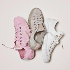 Available Now! #Exclusive new colours in our @converse All Star Low's. Introducing the new Spring Blossom Pack Egret Leather, Vapour Pink Leather & Vintage Khaki Suede. All with rose gold detailing. #new #converse #ownit2017