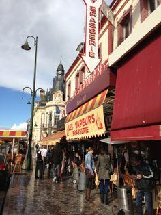 We should sit outside. Reservations recommended. Mon-Fri noon-10:30pm; Sat-Sun noon-12:30am Les Vapeurs in Trouville-sur-Mer 02-31-88-15-24