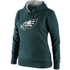 0745e3b20 Nike Philadelphia Eagles Ladies Tailgater Pullover Hoodie - Midnight Green