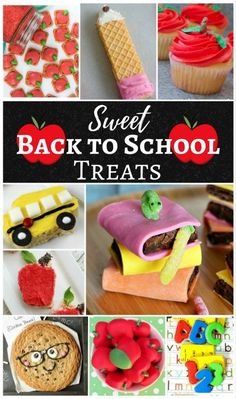 Sweet Back to School Treats – Merry Monday Link Party Sweet Back to School Treats – cookies, rice krispies, brownies, and more. - Back To School Back To School Party, Back To School Crafts, Back To School Hacks, School Parties, School Fun, School Tips, School Stuff, School Treats, After School Snacks