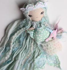 She's sold but one more photo just because 💘💘💘#libertylavenderdolls #seacreature #unicornofthesea