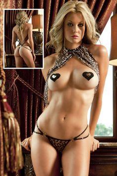 Sultry Hot Teasing Leopard Teddy Lingerie