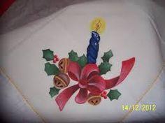 manteles pintados a mano de navidad - Buscar con Google