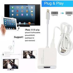 Lightning to HDMI Digital AV TV Cable Adapter For iPad air iPhone 6 7 8 Plus X | Computers/Tablets & Networking, Tablet & eBook Reader Accs, A/V Cables & Adapters | eBay!