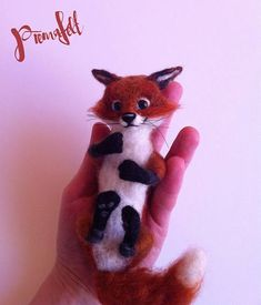 Cute fox needle felted fox needle felted animal red fox