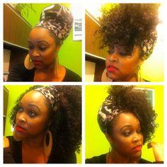 Natural hair - loc soc fun!