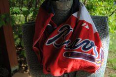 Atlanta Braves Upcycled TShirt Infinity Scarf by SeasonedWithStyle, $14.00