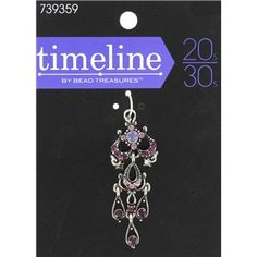 Timeline by Bead Treasures Antique Silver Ornate Drop with Purple Crystals | Shop Hobby Lobby