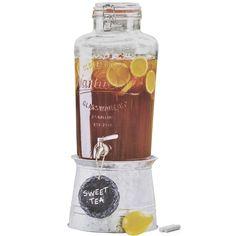 Suqueira de Vidro 9500 ml com Tampa Hermética e Lousa  - Magazine da Casa