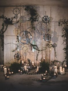How to Style an Industrial Chic Wedding Ceremony   SouthBound Bride   http://www.southboundbride.com/industrial-chic-ceremony-spaces   Credit:  La Femme Gribouillage/MC2 Mon Amour/Adeline Fonknechten via Green Wedding Shoes