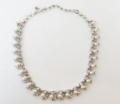Beautiful Vintage 1960s Silver Toned Rhinestone by GildedTrifles