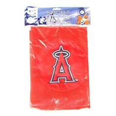 "Anaheim Angels Red Sport Utility Laundry Bag by McArthur. $9.99. Licensed by the MLB. Large Mesh Bag that measures 23"" by 36"". Drawstring closure. Great gift. Made by McArthur. This is the Aniheim Angels Red Sport Utility Laundry Bag.  It is a large mesh bag that measures 23"" by 36"" with a drawstring closure. The tram logo is on the front of the bag.. Save 50% Off!"