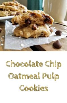 Not sure what to do with your leftover oat or nut milk pulp from making homemade milk? Then make these Chocolate Chip Oatmeal Pulp Cookies! They make use of leftover oat or nut milk pulp, so that no food goes to waste. These cookies are incredibly soft and fluffy, and they pair perfectly with your homemade oat milk! #thepanickedfoodie #cookies #vegan #oats #oatmealcookies #oatpulp