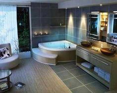 bagni moderni con vasca idromassaggio - Cerca con Google