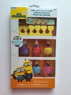 Minions Nail Art Collection Set of 7... 5 Non-toxic Peelable Nail Polishes, Toe Separators and Nail File Keyring -- This is an Amazon Affiliate link. To view further for this item, visit the image link.