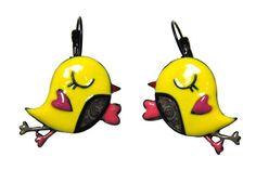 Boucles d'oreilles Mlle Couin Couin -LOL Bijoux  Découvrir ces petites boucles d'oreilles à la forme d'un petit oiseau : ce mélange de trois couleurs lui donnent une originalité différente. Bijoux de la marque LOL bijoux.