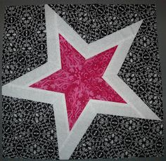 Crafter without a Cat: Pink Paper-Pieced Star