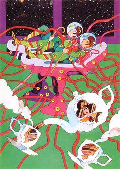 Heinz Edelmann (20 June 1934 – 21 July 2009) was a German illustrator and designer.  Andromedar SR1′ Book Illustrations – 1970.