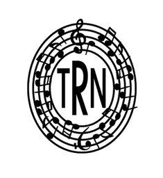 Music Monogram Musical Monogram Frame Music by SouthernMissVinyl