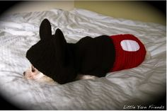 Mickey Hoodie sweater for your dog.  This is just inspiration, not a tutorial but a crochet journey creating for an adorable pooch!