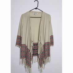 Cozy Kimono This cozy kimono has three-quarter-length sleeves and is 100% cotton. It is like new. Forever 21 Sweaters Cardigans