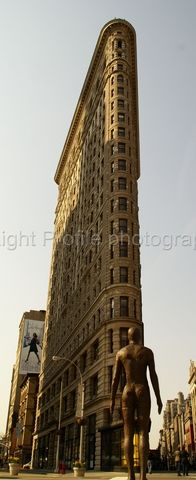 Flat Iron with Gormley statue