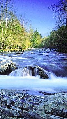 Little Pigeon River, Great Smoky Mountains National Park, Tennessee http://www.pantherknobcottges.com