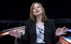 General Motors CEO Mary Barra appears onstage during a launch event for new Chevrolet cars before the New York Auto Show in New York April 1...