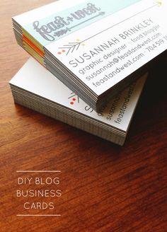 DIY Blog Business Cards – Indie Crafts