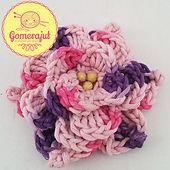 Ravelry: Stephanie's Fuzz Flower (Picot Style) pattern by Stephane Gomerajut