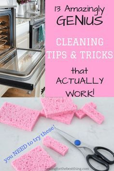 13 amazing cleaning tips and tricks!//tips and techniques//cleaning hacks//cheap solutions