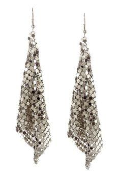 Cam & Zooey  Long Chain Earrings - Silver