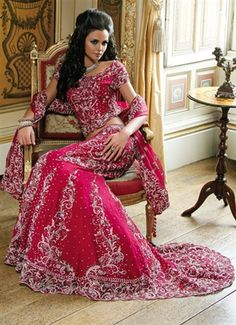 Bridal lengha with heavy embroidery on trail & statement crystal work - See more at: http://www.asianqueenboutique.co.uk/product-p/aqb822.htm#sthash.Nfc1wR9E.dpuf