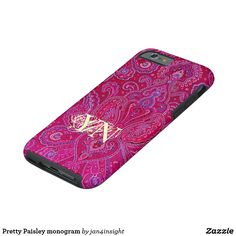 Pretty Paisley monogram Tough iPhone 6 Case by Jan4insight on Zazzle > SOLD a customized iPhone case 12.8.17
