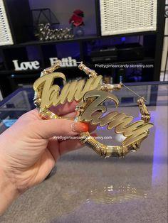 #bambooearrings add any nAme #earrings Custom Jewelry, Pairs, Earrings, Accessories, Ear Rings, Stud Earrings, Personalized Jewelry, Ear Piercings, Ear Jewelry