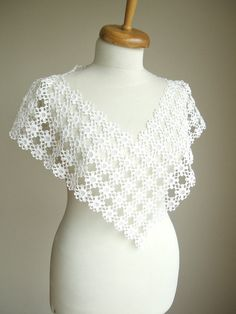 Wedding Wrap Capelet Recycled Vintage lace Table by WHITEStardust, $48.00