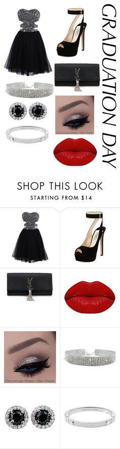 """""""Untitled #743"""" by sophisticatedfashion ❤ liked on Polyvore featuring Prada, Yves Saint Laurent, Winky Lux, Michael Kors and graduationdaydress"""