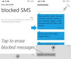 [How To] View Blocked SMS In Windows Phone 8.1