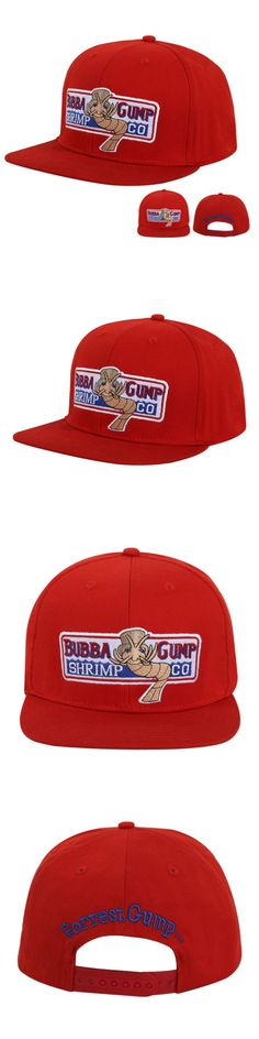 ea6a21e6 Hats 163543: Bubba Gump Shrimp Hat Forrest Gump Costume Embroidered Snapback  Cap Red Great -