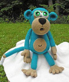 Big Blue Monkey - pattern by Lovely Baby Gift