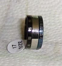 Blue and Black Calendar RIng size 6.5