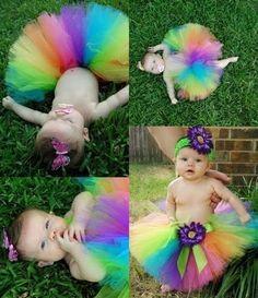 love the rainbow tu tu
