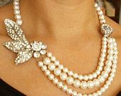 luxedeluxe  Wedding Bridal Jewelry with Vintage Glamour