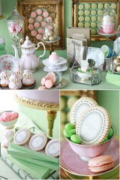 "Love this china pattern, reminds me of what my grandmother used to call ""ice cream & cake""..."