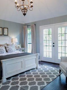 Blue Bedroom Colors, Bedroom Color Schemes, Gray Bedroom, Trendy Bedroom, Modern Bedroom, Contemporary Bedroom, Wood Bedroom, Bedroom Bed, Bedroom Headboards